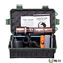 tanie Kapelusze, czapki i chusty-U'King Latarki LED LED Cree® XM-L T6 Emitery 2000 lm 5 tryb oświetlenia z baterią i ładowarką Powiększenie Regulacja promienia Przygaszanie Kemping / turystyka / eksploracja jaskiń Do użytku