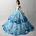 preiswerte Barbie Kleidung-Party/Abends Kleider Für Barbie-Puppe Organza Paillette Kleid Für Mädchen Puppe Spielzeug