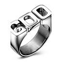 preiswerte Ohrringe-Herrn Statement-Ring Ring - Titanstahl Modisch 6 / 7 / 8 / 9 / 10 Silber Für Party Alltag Normal
