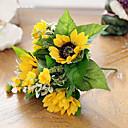 tanie Dekoracyjne naklejki-Sztuczne Kwiaty 1 Gałąź Styl nowoczesny Słoneczniki Bukiety na stół