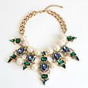 billige Mode Halskæde-Dame Halskædevedhæng Perle Personaliseret Europæisk Mode Euro-Amerikansk Lys Grøn Halskæder Smykker Til Fest Speciel Lejlighed Forlovelse
