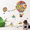 hesapli Duvar Sanatı-Hayvanlar Moda Şekiller Duvar Etiketler Uçak Duvar Çıkartmaları Dekoratif Duvar Çıkartmaları, Vinil Ev dekorasyonu Duvar Çıkartması Duvar