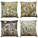 tanie Poduszki-4.0 szt Bielizna / Naturalne / ekologiczne Pokrywa Pillow / Poszewka na poduszkę, Jendolity kolor / Textured Modern / Contemporary /
