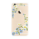 voordelige iPhone-hoesjes-hoesje Voor Apple iPhone X iPhone 8 Plus Transparant Patroon Achterkant Bloem Zacht TPU voor iPhone X iPhone 8 Plus iPhone 8 iPhone 7