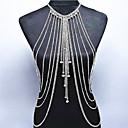 Χαμηλού Κόστους Κοσμήματα σώματος-Κρυστάλλινο Φούντα Body Αλυσίδα / κοιλιά Αλυσίδα - Κρύσταλλο Λεπτοκαμωμένος, Μποέμ, Φύση Γυναικεία Χρυσό / Ασημί Κοσμήματα Σώματος Για Ειδική Περίσταση / Δώρο / Causal