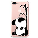 baratos Capinhas para iPhone-Capinha Para Apple iPhone X / iPhone 8 Transparente / Estampada Capa traseira Desenho Animado / Panda Macia TPU para iPhone X / iPhone 8 Plus / iPhone 8
