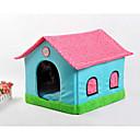 preiswerte Bekleidung & Accessoires für Hunde-Katze Hund Betten Haustiere Körbe Patchwork Cartoon Design Weich Zelt Beige Blau Rosa