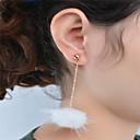 preiswerte Halsketten-Damen Anhänger Ohrringe baumeln - Anhänger Stil, Kreuz, Modisch, nette Art, Euramerican Weiß / Schwarz / Asche Für Party Alltag Normal