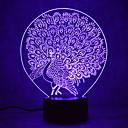 Χαμηλού Κόστους Πρωτότυπα φωτιστικά LED-1 τμχ 3D Nightlight Πολύχρωμο USB Αισθητήρας Με ροοστάτη Αδιάβροχη Αλλάζει Χρώμα
