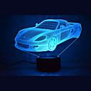 저렴한 목걸이-1개 3D 야간 조명 멀티컬러 USB 센서 밝기조절가능 방수 색상-변화