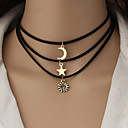 cheap Necklaces-Women's Pendant Necklace / Pendant - Star Gold Necklace 3pcs For Wedding, Party, Special Occasion
