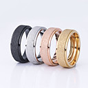 cheap Rings-Women's Couple Rings - Stainless Steel, Gold Plated Basic 6 / 7 / 8 Black / Silver / Champagne For Wedding / Party / Special Occasion