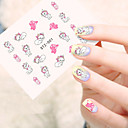 cheap Temporary Tattoos-5pcs/set Water Transfer Sticker nail art Manicure Pedicure Fashion Daily