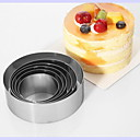 cheap Baking Tools & Gadgets-Bakeware tools Stainless Steel DIY For Cake Round Mold 6pcs