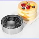 hesapli Fırın Araçları ve Gereçleri-Bakeware araçları Paslanmaz Çelik Kendin-Yap Kek Yuvarlak Pişirme Kalıp 6pcs