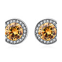 Buy Women's Stud Earrings Crystal Imitation Diamond Fashion Personalized Euramerican Simple Style Classic Costume Jewelry Sterling Silver