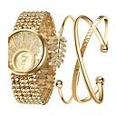 preiswerte Armbänder-Damen Armbanduhr Quartz Cool Edelstahl Band Analog Charme Luxus Glanz Gold - Farbbildschirm