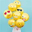 preiswerte Matten & Teppiche-8 PC / Satz Emoji Ballon 18-Zoll-Folienballon heiße Blase Ballons Partei Dekoration zu Hause