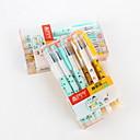 baratos Brinquedos para Cães-Pen gel Caneta Canetas Gel Caneta,Plástico Barril Azul cores de tinta For material escolar Material de escritório Pacote de