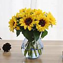 رخيصةأون أزهار اصطناعية-6 فروع عباد الشمس الزهور الاصطناعية المنزل الديكور الزفاف العرض