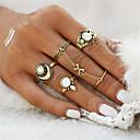 ieftine Brățări-Pentru femei Inel Seturi de inele Opal Floare Ancoră femei Neobijnuit Γεωμετρικά Design Unic Vintage Boem Inele la Modă Bijuterii Auriu / Argintiu Pentru Cadouri de Crăciun Nuntă Petrecere Ocazie