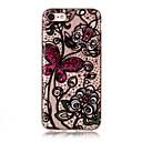 Χαμηλού Κόστους Δαχτυλίδια-tok Για Apple iPhone 7 Plus iPhone 7 IMD Διαφανής Με σχέδια Πίσω Κάλυμμα Πεταλούδα Λουλούδι Lace Εκτύπωση Μαλακή TPU για iPhone 7 Plus