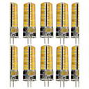 hesapli Ses ve Video Kabloları-10pcs 3W 250-300lm G4 LED Bi-pin Işıklar T 72 LED Boncuklar SMD 5730 Dekorotif Sıcak Beyaz / Serin Beyaz 12V / 110-130V
