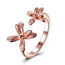 Buy Women's Cuff Ring Flower Style Flowers Floral Sterling Silver Platinum Plated Rose Gold Jewelry Party Birthday Business