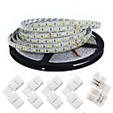 cheap LED Strip Lights-KWB 5m Flexible LED Light Strips 300 LEDs 5050 SMD Warm White / White Cuttable / Dimmable / Linkable 12 V / Suitable for Vehicles / Self-adhesive / IP44