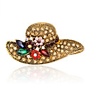 cheap Brooches-Women's Brooches - Rhinestone Fashion, Euramerican Brooch Gold For Wedding / Party / Special Occasion / Daily