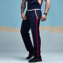 ieftine Decorațiuni de Casă-Bărbați Sportiv / Activ Zilnic Sport Concediu Larg / Pantaloni Sport Pantaloni - Dungi Plasă Negru Roșu-aprins Bleumarin M L XL / Primăvară / Vară / Sfârșit de săptămână
