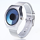 cheap Rings-Men's Quartz Wrist Watch Chinese Large Dial Metal Band Creative Casual Unique Creative Watch Fashion Silver
