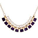 tanie Zestawy biżuterii-Damskie Wzór geometryczny Oświadczenie Naszyjniki - Geometrické, Unikalny White, Black, Purple Naszyjniki Na Impreza, Codzienny, Casual