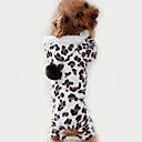 hesapli Köpek Giyim ve Aksesuarları-Kedi Köpek Tulumlar Pijamalar Köpek Giyimi Leopar Kahverengi Polar Kumaş Kostüm Evcil hayvanlar için Erkek Kadın's Sevimli Günlük/Sade
