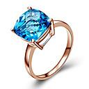 Χαμηλού Κόστους Δαχτυλίδια-Γυναικεία Συνθετικό Diamond Δαχτυλίδι - Rose Gold, Cubic Zirconia, Επάργυρο Μοντέρνα 5 / 6 / 7 Μπλε / Ανοικτό Καφέ Για Γενέθλια / Συγχαρητήρια / Δώρο