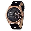 Χαμηλού Κόστους Ανδρικά ρολόγια-Ανδρικά Αθλητικό Ρολόι Μοδάτο Ρολόι Ρολόι Καρπού Χαλαζίας Δέρμα Μαύρο 30 m Αναλογικό Χρυσό Μαύρο