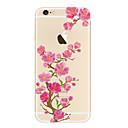 저렴한 아이폰 케이스-케이스 제품 iPhone 5 Apple 투명 패턴 뒷면 커버 꽃장식 소프트 TPU 용 iPhone SE/5s iPhone 5