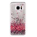 رخيصةأون حافظات / جرابات هواتف جالكسي S-غطاء من أجل Samsung Galaxy S8 Plus / S8 سائل متدفق / شفاف / نموذج غطاء خلفي قلب / بريق لماع قاسي الكمبيوتر الشخصي إلى S8 Plus / S8 / S7