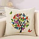 tanie Poduszki-1 szt Cotton / Linen Pokrywa Pillow / Poszewka na poduszkę, Liście drzew / / Nowość / Modny Vintage / Na co dzień / Retro