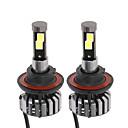 baratos Decoração para Carro-2pcs H13 Carro Lâmpadas 40W 4000lm LED Lâmpada de Farol For Universal
