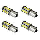 baratos Lâmpadas de LED para Carros-4pçs 1156 / 1157 Carro Lâmpadas 2.5W SMD 5050 200lm LED luzes exteriores