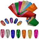 abordables Maquillage & Soin des Ongles-9pcs/set Autocollant feuille / Autocollant pour ongles Glamour à Paillettes / Décalques pour ongles Nail Art Design