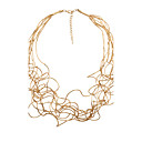 preiswerte Innendekoration-Damen Stränge Halskette - Personalisiert, Böhmische, Modisch Gold, Weiß, Silber Modische Halsketten Für Weihnachts Geschenke, Hochzeit, Party