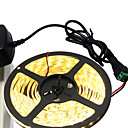 hesapli Konnektörler-HKV 5m Esnek LED Şerit Işıklar 300 LED'ler 5630 SMD Sıcak Beyaz / Beyaz Kesilebilir / Kendinden Yapışkanlı 12 V
