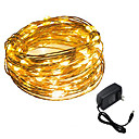 tanie Taśmy świetlne LED-HKV 5 m Łańcuchy świetlne 50 Diody LED SMD 0603 Ciepła biel / Biały Impreza / Dekoracyjna / Święta 12 V 1 szt. / IP65
