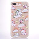cheap iPhone Cases-Case For Apple iPhone 8 iPhone 8 Plus Frosted Translucent Pattern Back Cover Unicorn Balloon Soft TPU for iPhone 8 Plus iPhone 8 iPhone 7