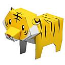 رخيصةأون الدرجات النارية وأجزاء السيارات-قطع تركيب3D نموذج الورق مجموعات البناء Tiger الحيوانات اصنع بنفسك كلاسيكي كرتون للأطفال للجنسين ألعاب هدية