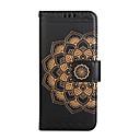 preiswerte USB Ladegeräte-Hülle Für Samsung Galaxy S8 Plus S8 Kreditkartenfächer Geldbeutel Flipbare Hülle Muster Geprägt Ganzkörper-Gehäuse Mandala Blume Hart