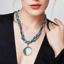 Χαμηλού Κόστους Κολιέ-Γυναικεία Τιρκουάζ Κρεμαστά Κολιέ - Μποέμ, Ευρωπαϊκό, Μοντέρνα Κόκκινο, Πράσινο, Μπλε 42+5 cm Κολιέ 1pc Για Πάρτι, Γενέθλια, Δώρο