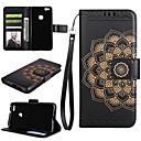 preiswerte Hüllen / Cover für Huawei-Hülle Für Huawei P9 Lite Huawei Huawei P8 Lite Kreditkartenfächer Geldbeutel mit Halterung Flipbare Hülle Ganzkörper-Gehäuse Mandala Hart